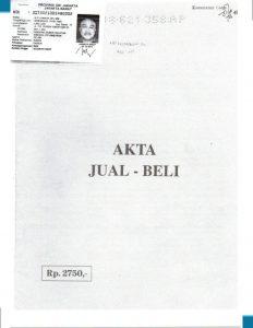 LEGALITAS AKTA JUAL BELI