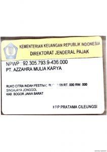 NO NPWP PERUSAHAAN